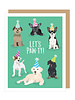 Apartment 2 Cards Let's Pawty Dogs Greeting Card
