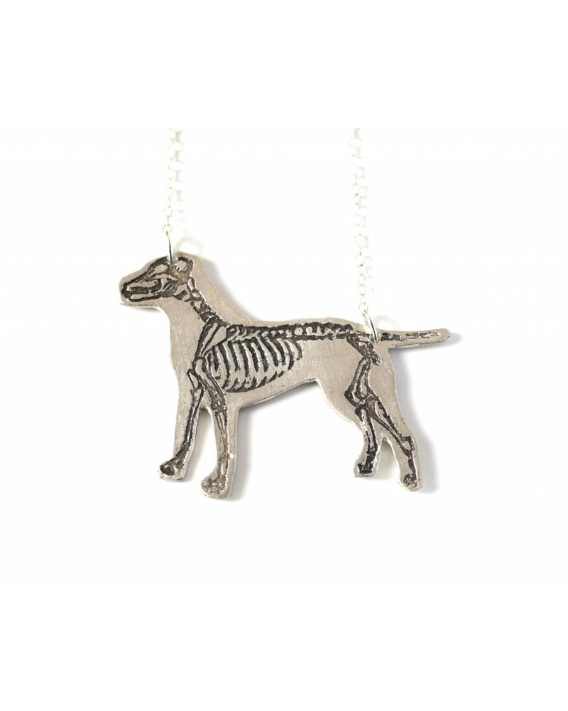 J. Topolski Skeleton Pit Bull Necklace