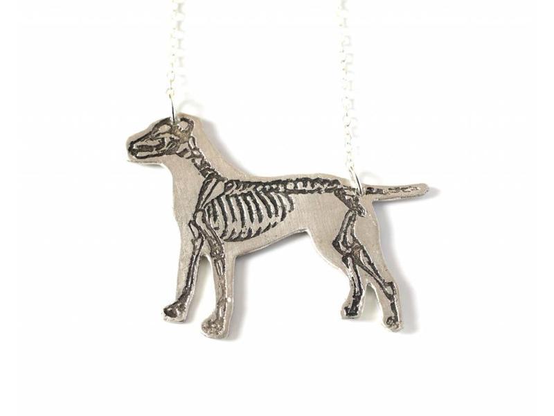J. Topolski Skeleton Pit Bull Necklace