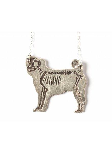 J. Topolski Skeleton Dog Necklace