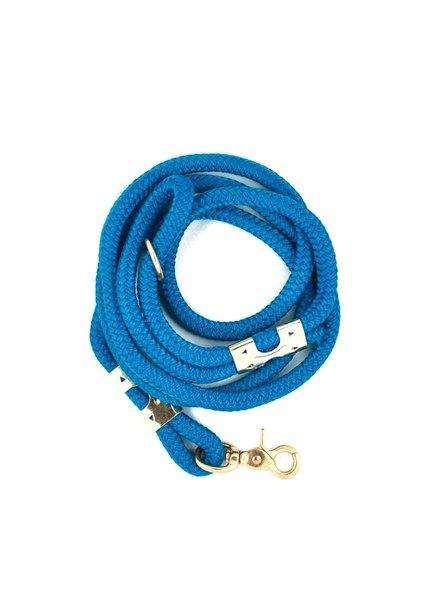 The Rover Boutique Marine Rope Leash, Sea Blue