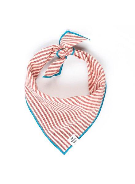 The Foggy Dog Red Stripe Bandana, L