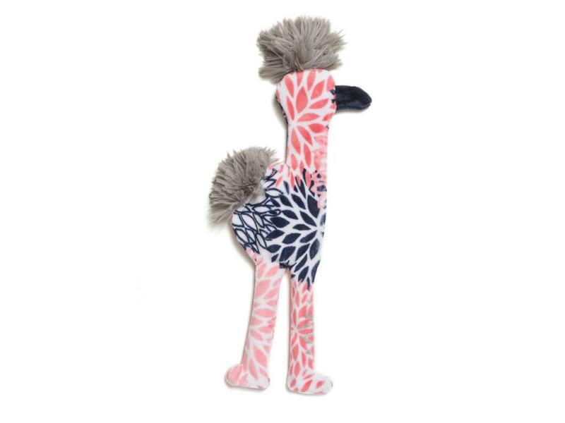 West Paw Stuffless Flamingo Toy, Carnation