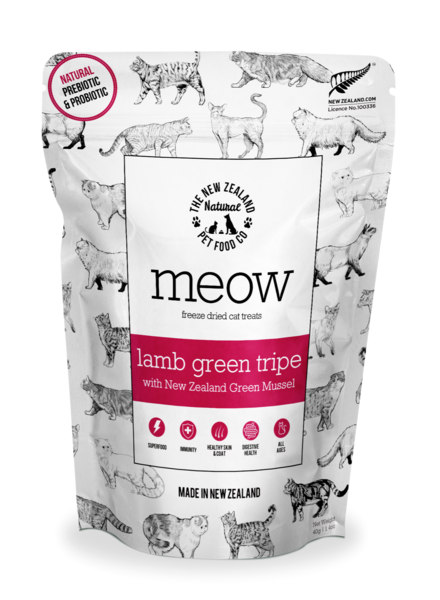 New Zealand Natural Meow Lamb Green Tripe