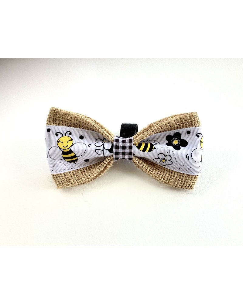FEED Burlap Bow Tie, Bumble Bee