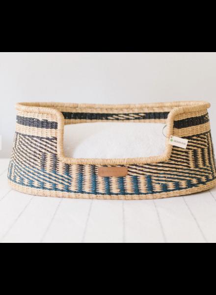 Design Dua Basket Bed, Patterns (Blue)