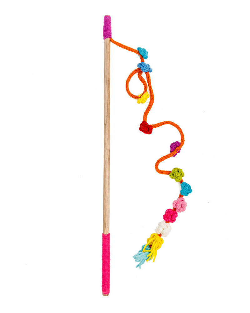 Chilly Dog Flower Wooly Cat Wand