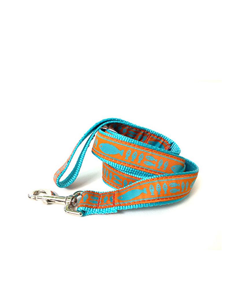 Preston Orange & Turquoise Batik Fish Lead