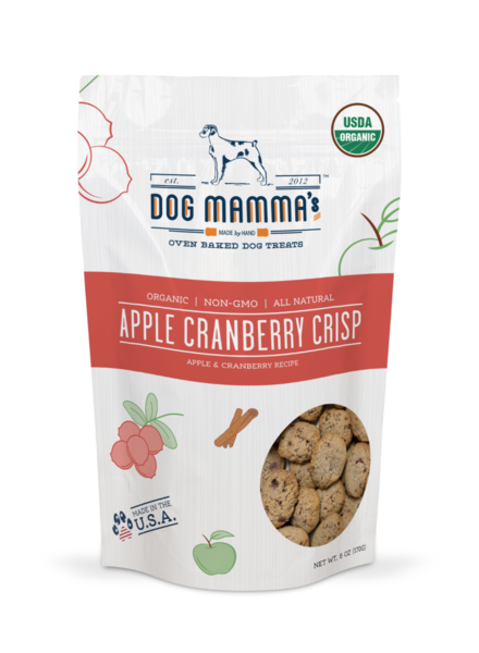 Dog Mamma's Apple Cranberry Crips Organic Treats