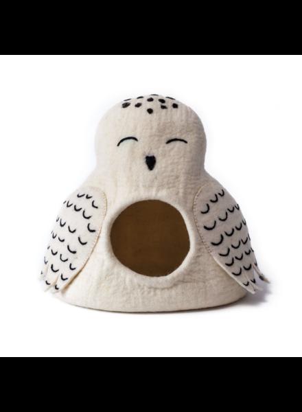 Dharma Dog Karma Cat Owl Pet Cave - Snowy