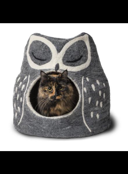 Dharma Dog Karma Cat Owl Pet Cave - Grey