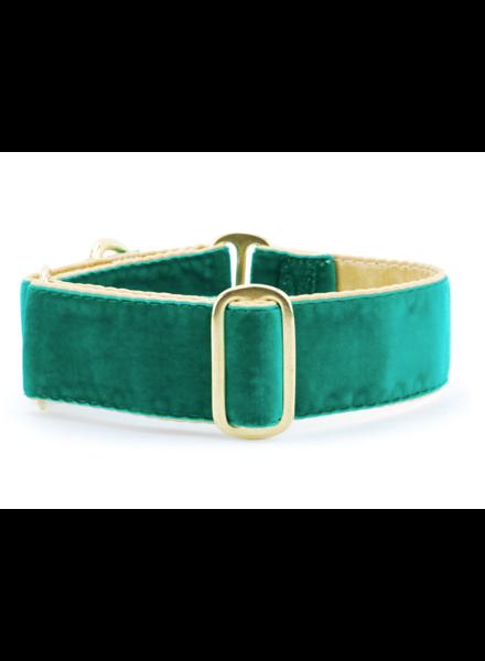 "2 Hounds Design Buckle Martingale Combo - Holiday Velvet Emerald 1.5"" L"