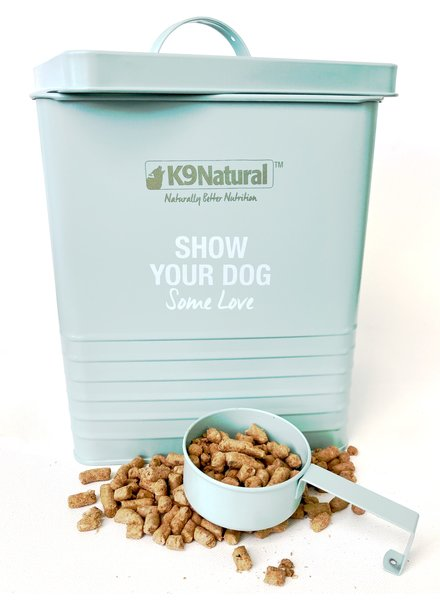 K9 Natural Dog Food Storage Tin & Scoop