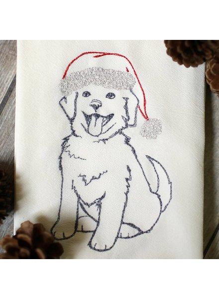 SewMuchMore Winter Dog Tea Towel