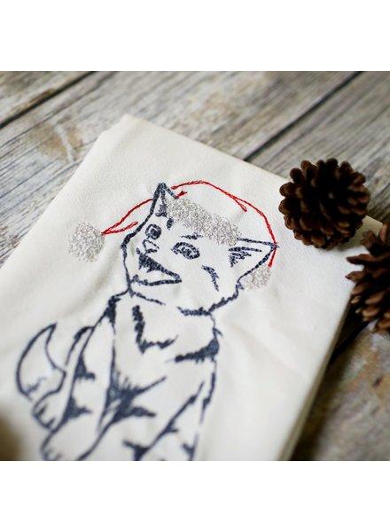 SewMuchMore Winter Cat Tea Towel