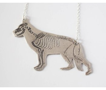 J. Topolski Skeleton Dog Necklace