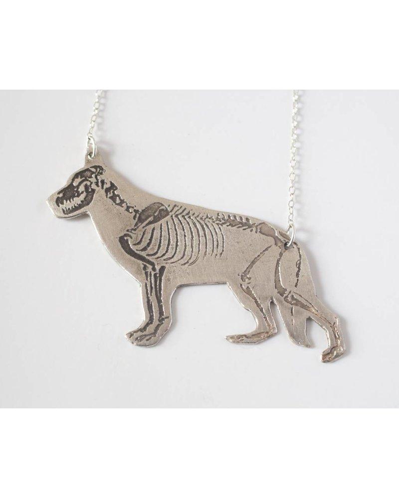 J. Topolski Skeleton German Shepherd Necklace