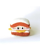 Ware of the Dog Ham & Cheese knit toy