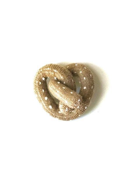 Ware of the Dog Pretzel knit toy