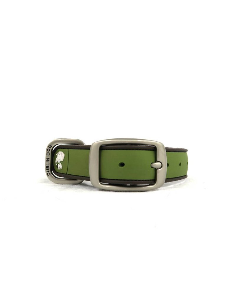 Dublin Dog Green Waterproof Collar