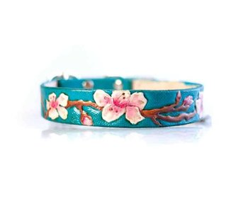Cherry Blossom Leather Collar