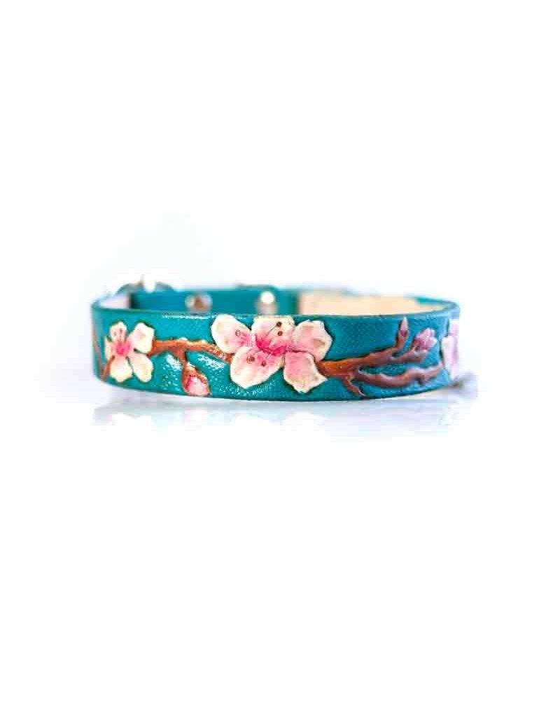 dieselDOGwear Cherry Blossom Leather Collar