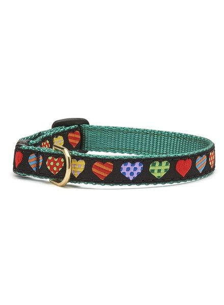 Up Country Cat Collar, Colorful Hearts