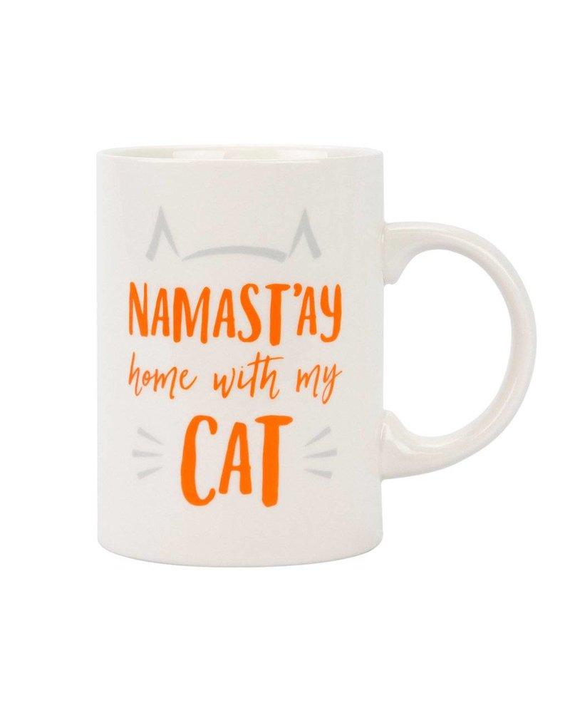 Namast'ay Home with My Cat Ceramic Mug