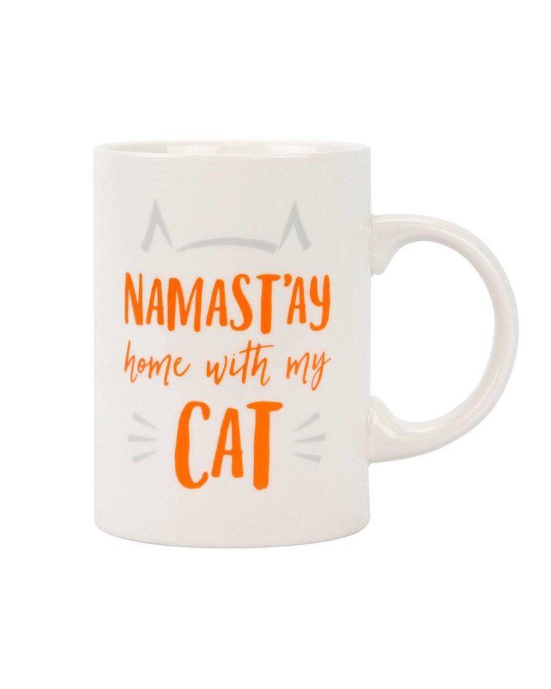 Pearhead Namast'ay Home with My Cat Ceramic Mug