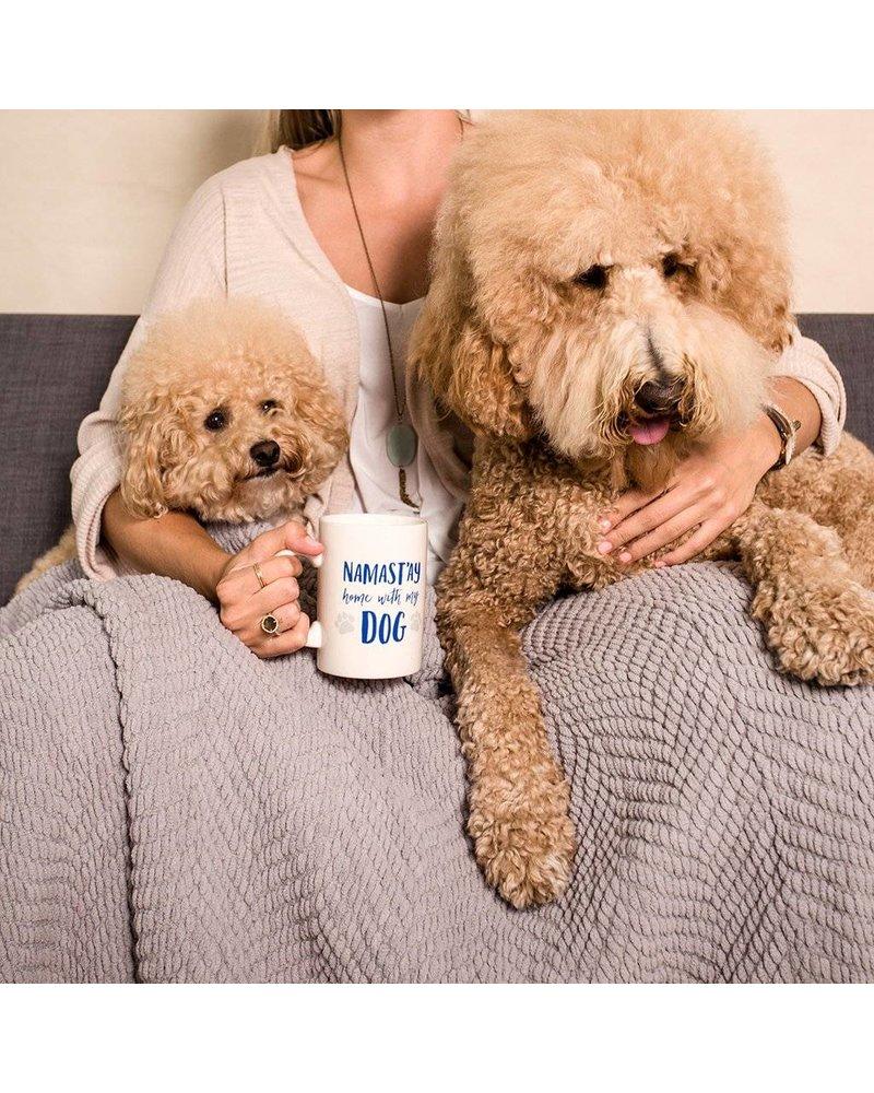 Namast'ay Home with My Dog Ceramic Mug