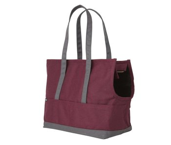 Love Thy Beast Canvas Pet Tote, Burgundy