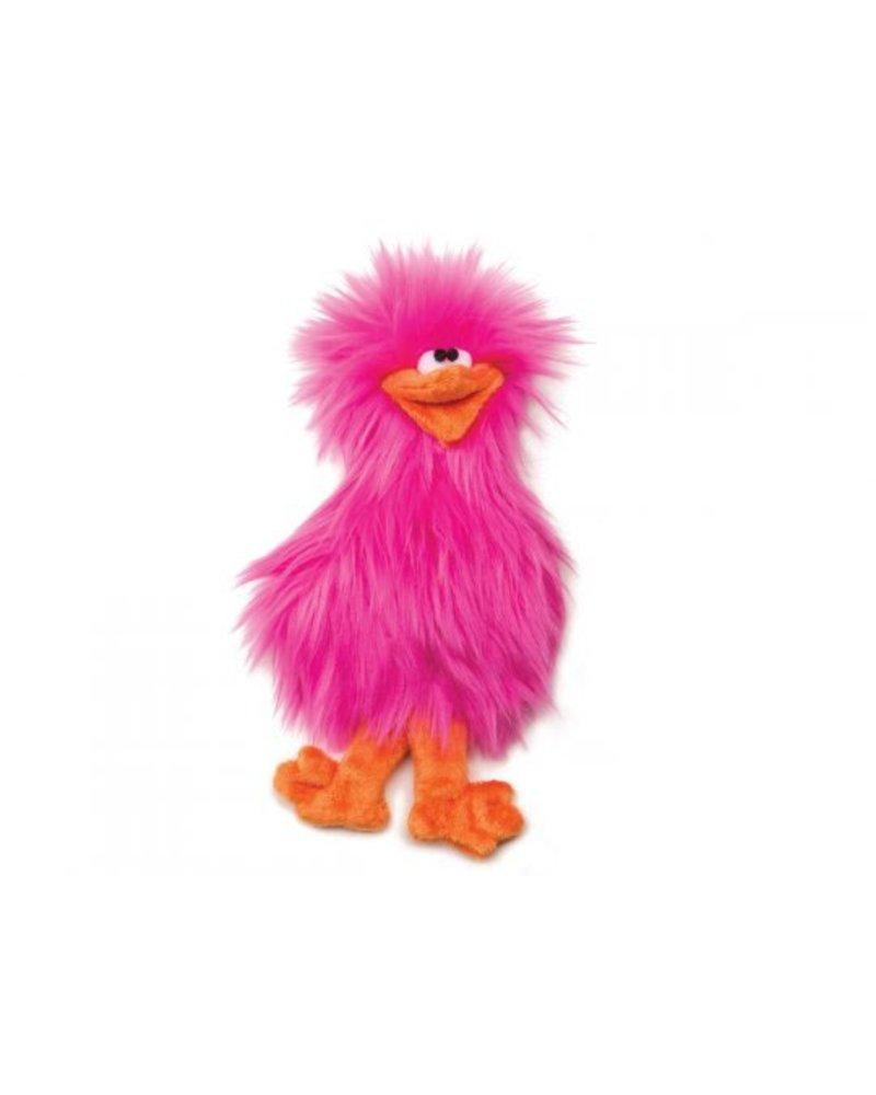 West Paw Spring Chicken Toy, Pink
