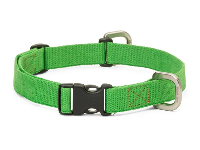 West Paw Strolls Hemp Collar, Green