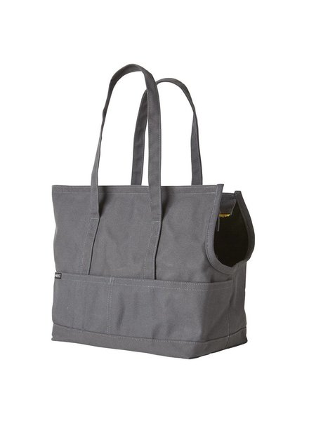 Love Thy Beast Canvas Pet Tote, Grey
