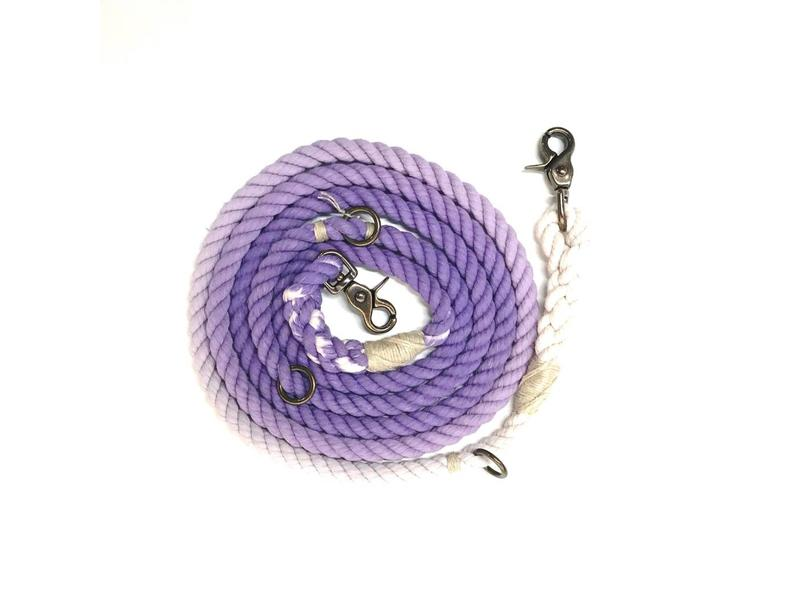 Green Trout Hands-Free Lead, Purple Ombre