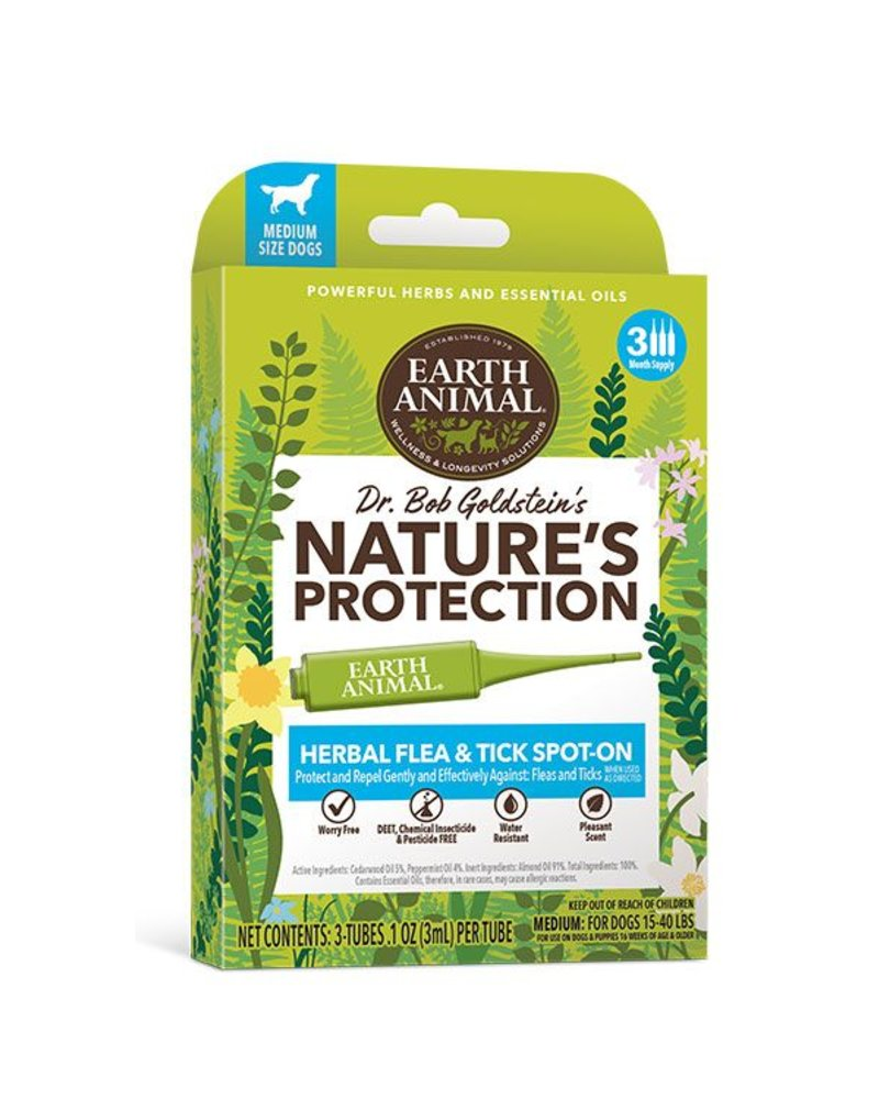 Earth Animal Nature's Protection Flea & Tick Spot-On For Dogs