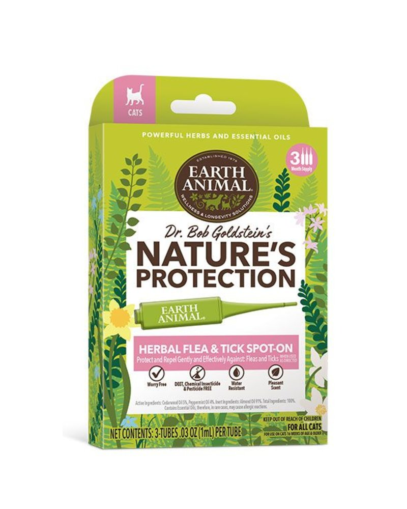 Earth Animal Nature's Protection Flea & Tick Spot-On For Cats