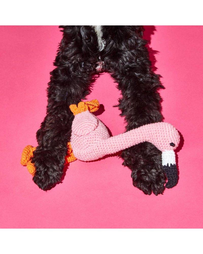 Ware of the Dog Crochet Flamingo