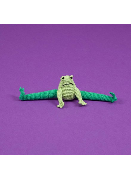 Ware of the Dog Crochet Frog