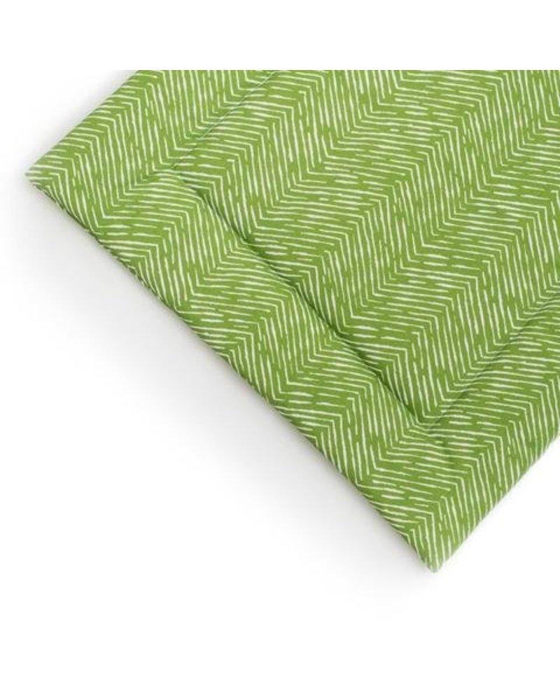 Janery Crate + Travel Mat Green Herringbone