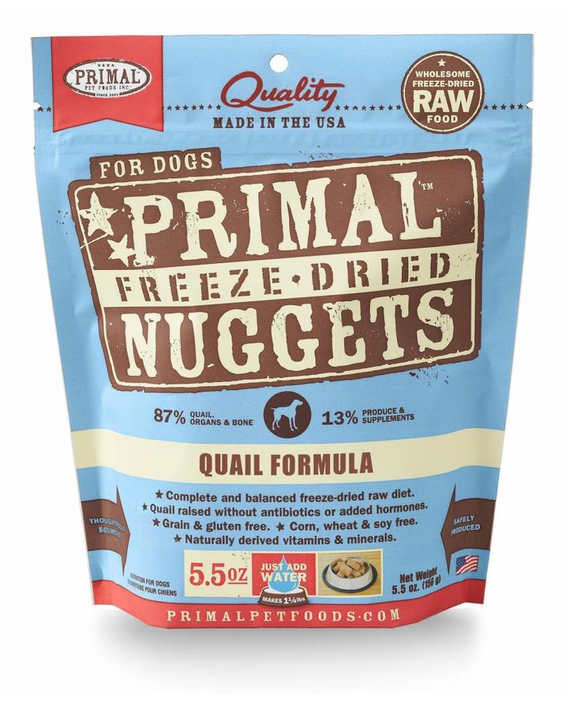 Primal Freeze-Dried Formula Quail for dogs