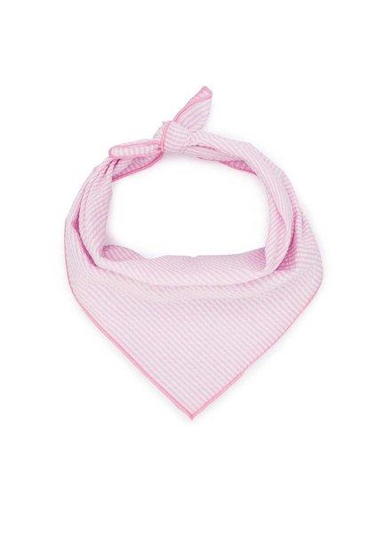 Love Thy Beast Bandana, Seersucker Pink