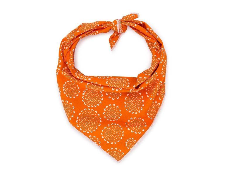 Love Thy Beast Bandana, Orange Paisley