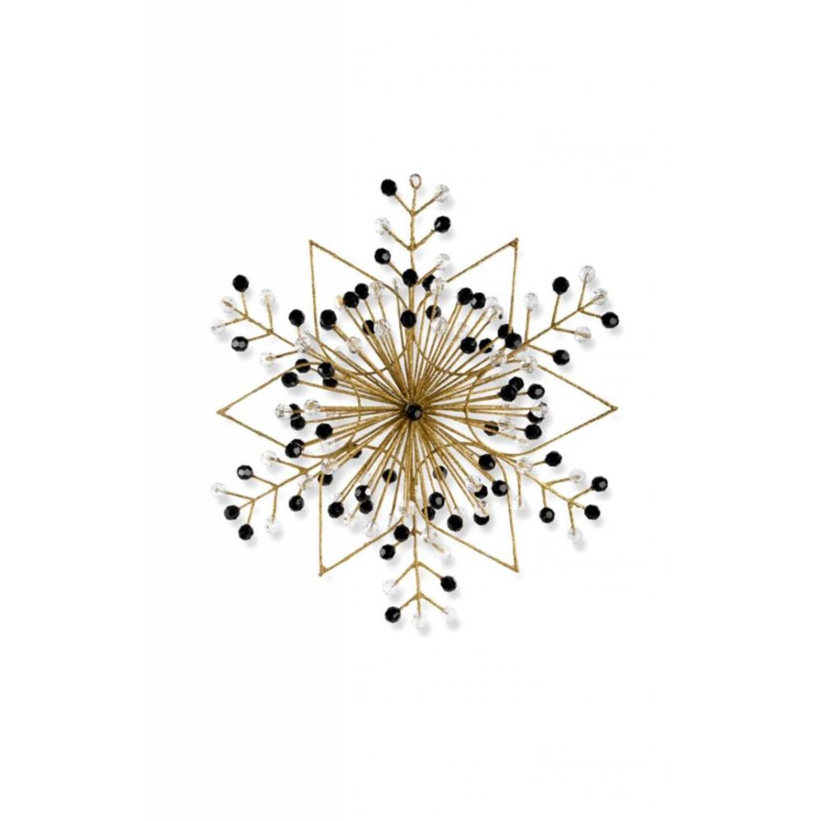 MacKenzie Childs Gold Snowflake Ornament - Large