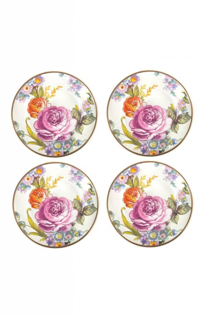 MacKenzie Childs Flower Market Canape Plates - Set of 4