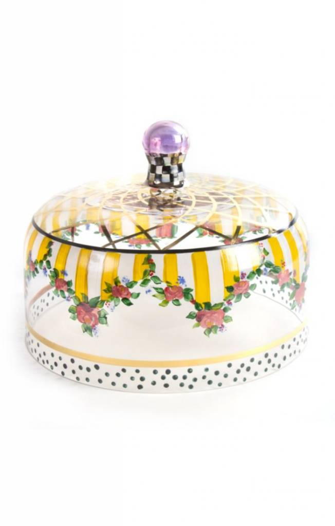 MacKenzie Childs Striped Awing Cake Dome