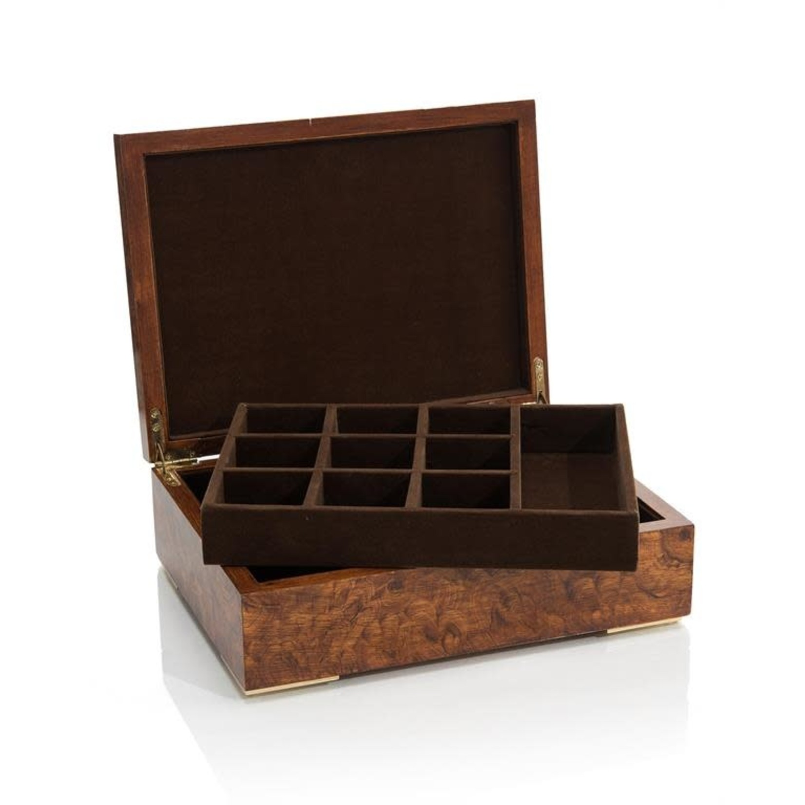John Richard Faux Burled Box with Quartz Points