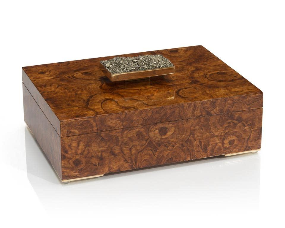 John Richard Faux Burled Box with Pyrite