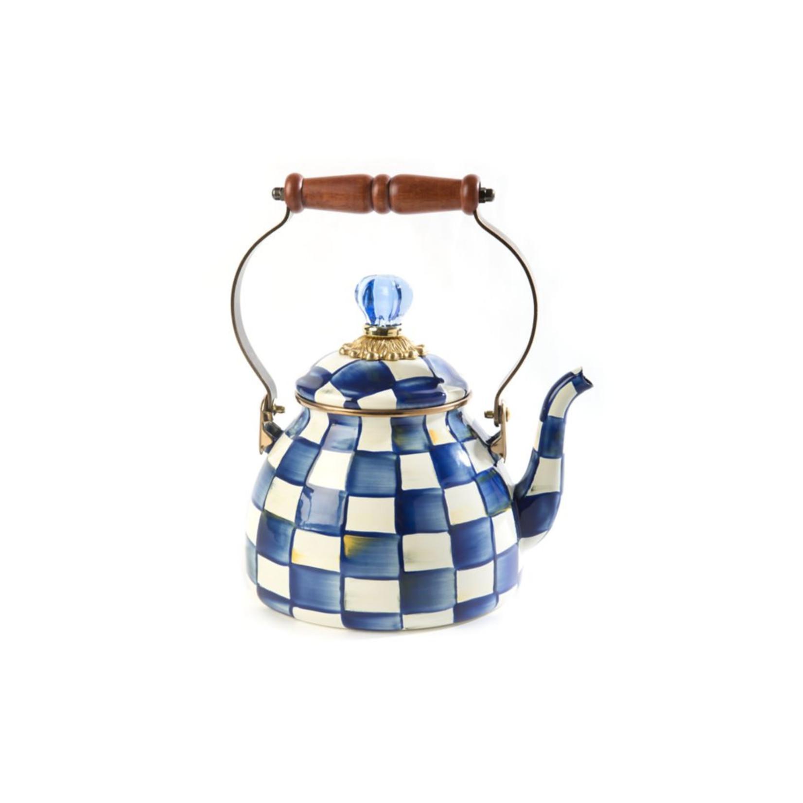 MacKenzie Childs Royal Check Tea Kettle - 2 Quart