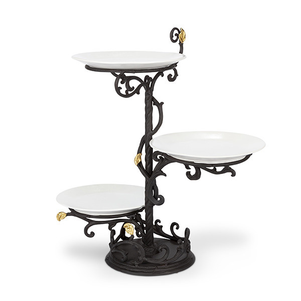 The GG Collection 3-Tier Server with Plates